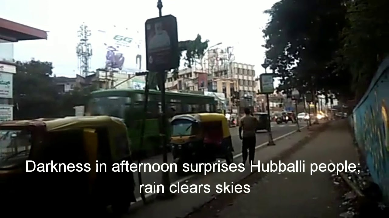Photo of Darkness in afternoon surprises Hubballi people; rain clears skies