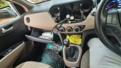 Photo of Thieves Steal Stereo System In Car By Breaking Window