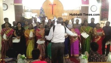 Photo of Christmas Celebrated In Hubballi: Mass Prayers Held For Early Exit Of Coronavirus