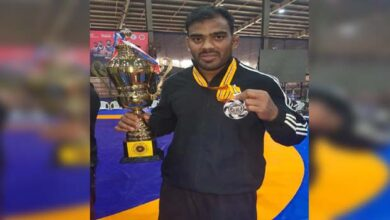 Photo of Dharwad Wrestler Wins Silver In National Tourney