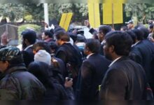 Photo of Hubballi Lawyer's Association Protest Against Lawyers' Murder