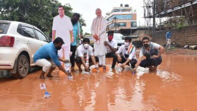 Photo of Paper Boats Flouted In Potholes To Protest Against Bad Roads
