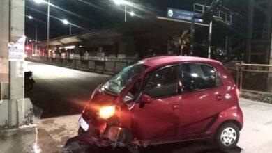 Photo of BJP Leader's Car Collides In Vidyanagar