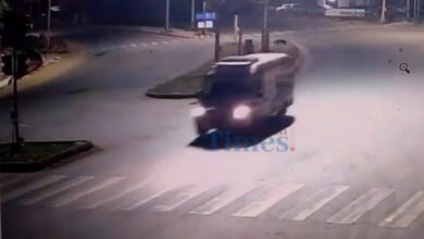 Photo of Bike Accident Near President Hotel: CCTV Footage Goes Viral